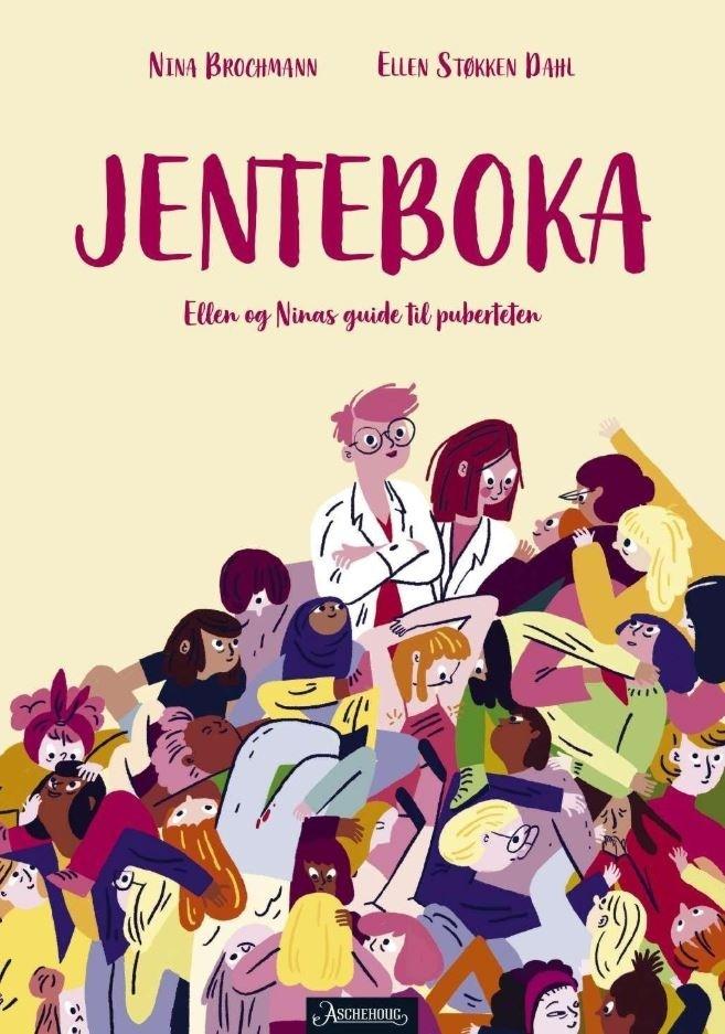 """Omslag av  """"Jenteboka""""  av Nina Brochmann og Ellen Støkken Dahl"""
