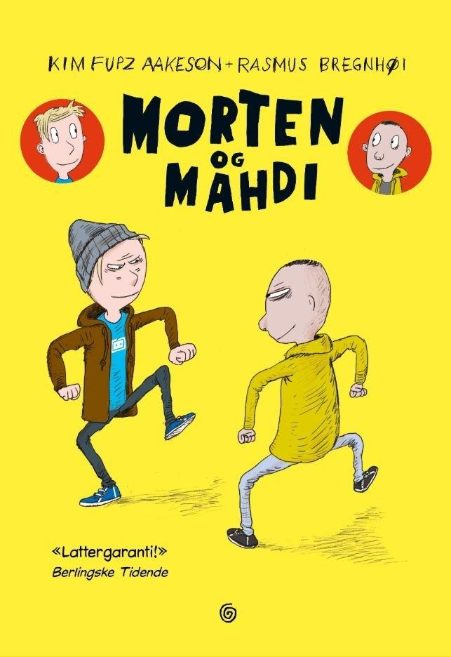 """Omslag av boken """"Morten og Mahdi"""" av Kim Fupz Aakeson og Rasmus Bregnhøi"""