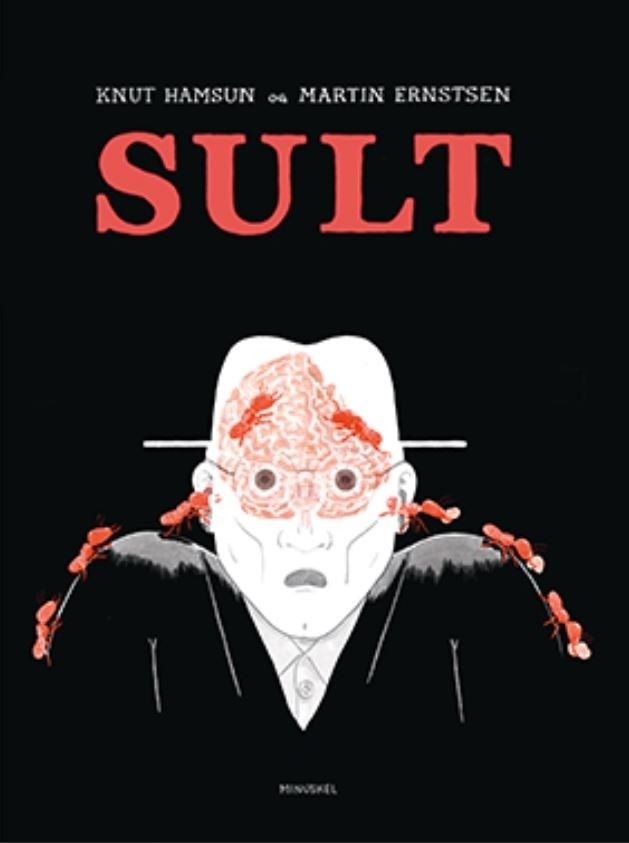 """Omslag av """"Sult"""" av Knut Hamsun og Martin Ernsten"""