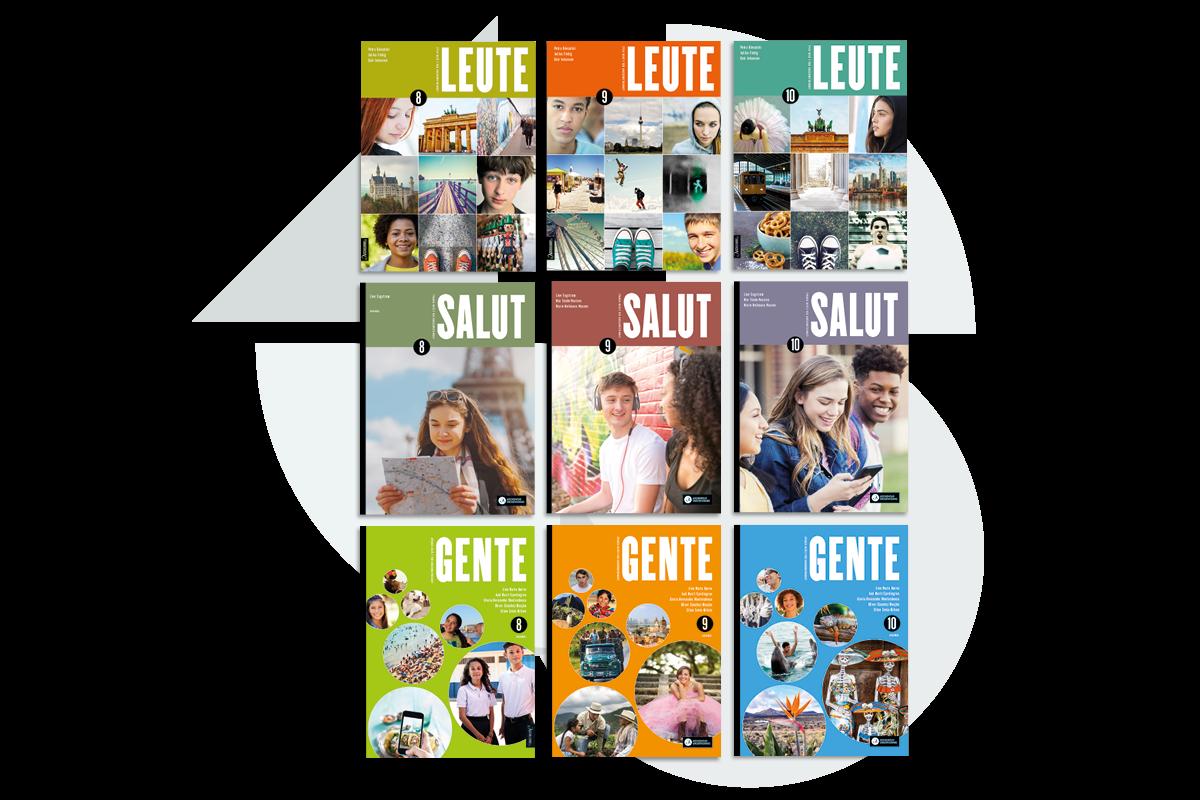 Aschehougs fremmedspråkportefølje for ungdomstrinnet fra høsten 2020.