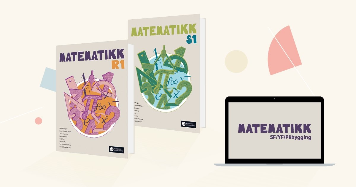 Omslag: Matmatikk R1, Matematikk S1.