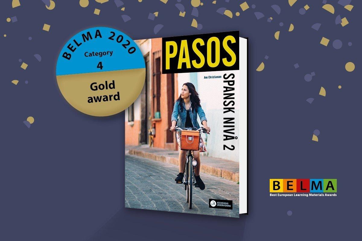 BELMA-pris i gull til PASOS under Frankfurtmessen den 14. oktober 2020.