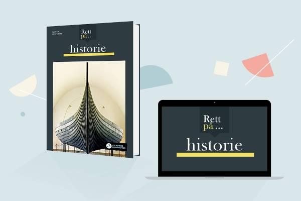 Bokomslag til Rett på historie med laptop