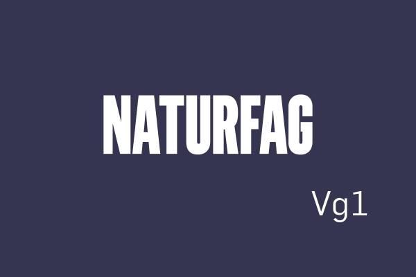 Logobilde Naturfag Vg1