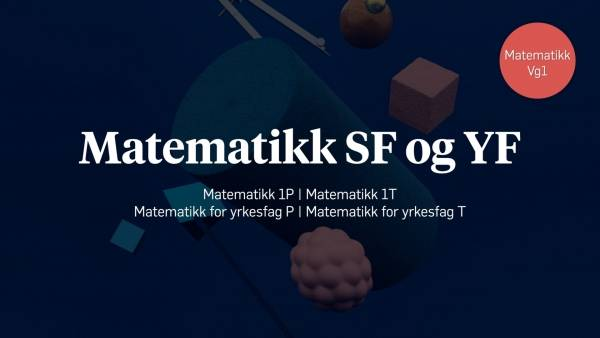 Lynkursillustrasjon forMatematikk for SF og YF.