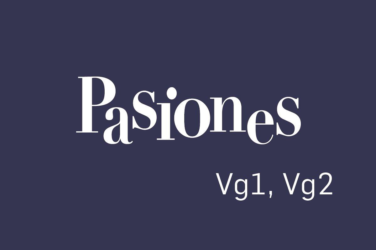 Logobilde Pasiones Vg1, Vg2